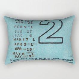 Ilium Public Library Card No. 2 Rectangular Pillow
