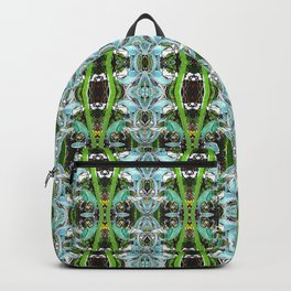 Jade Hearts Stained Glass Patten Backpack