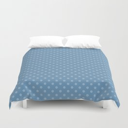 Sky blue background with polka dots Duvet Cover