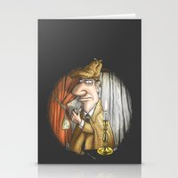sherlock holmes Stationery Cards featuring Sherlock Holmes! by Berni Store