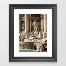 Rome, Italy. Trevi Fountain. Framed Art Print