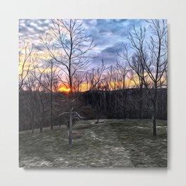 Edgy Sunset Metal Print