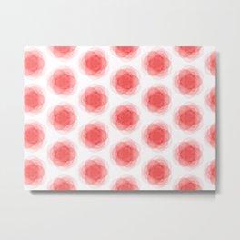 3D Roses Pattern. Metal Print