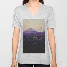 Majestic Bromo volcano, Indonesia Unisex V-Neck