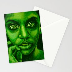 don't panic! green Stationery Cards
