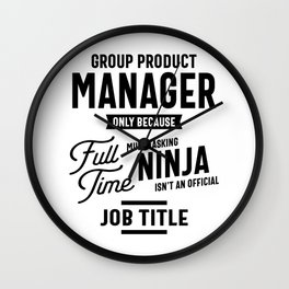 Group Product Manager Work Job Title Gift Wall Clock
