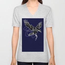 Geometric crow Unisex V-Neck