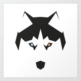 Vector husky Art Print