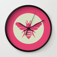 beetle Wall Clocks featuring Beetle by Lídia Vives