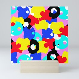 Abstract Color Circles Mini Art Print