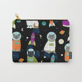 Space Cats pet portraits cute cat gifts cat lady outer space cadet rockets Carry-All Pouch