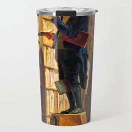12,000pixel-500dpi - The Bookworm - Carl Spitzweg Travel Mug