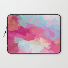 Colorful Abstract - pink and blue pattern Laptop Sleeve