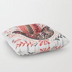 Hamsa Hand – Red & Black Palette Floor Pillow