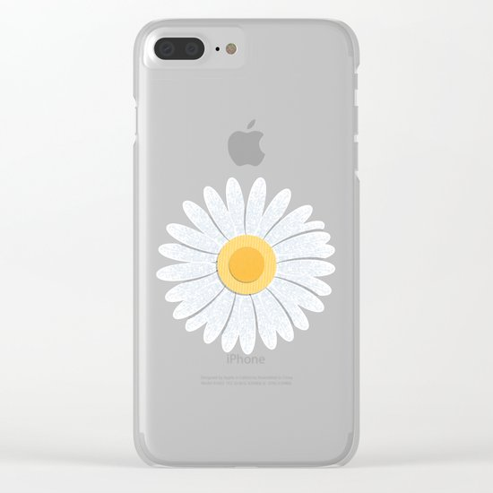 Spring Daisies_Black Clear iPhone Case