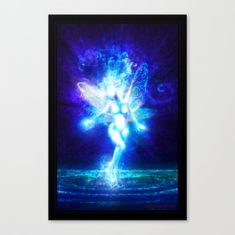A fairy in the moonlight Canvas Print