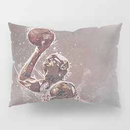 basketball player art Pillow Sham