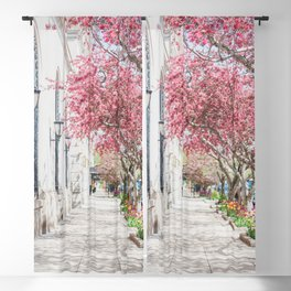 Blossom Season in the City Blackout Curtain