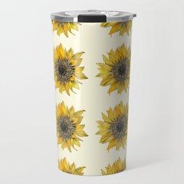 Sunflower Print Travel Mug