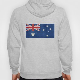 "Australian flag, retro ""folded"" textured version (authentic scale 1:2) Hoody"