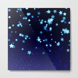 Twinkle Blue Stars1 Metal Print