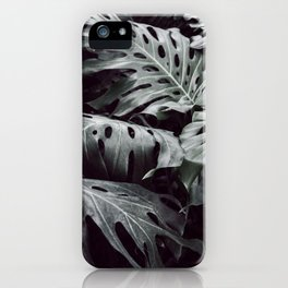 Tropical Leaves Cool Blue iPhone Case