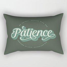 """""""Patience"""" Bible Verse Rectangular Pillow"""