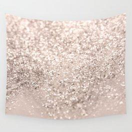 Blush Glitter Dream #4 #shiny #decor #art #society6 Wall Tapestry