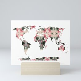 Shibori Map of World 3 Mini Art Print