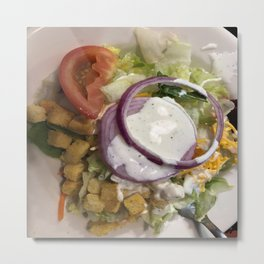 Salad with ranch Metal Print