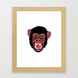 funny  facecharacter Framed Art Print