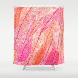 Blush Feathers Shower Curtain
