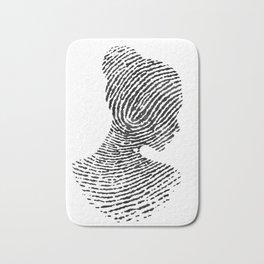 Fingerprint Silhouette Portrait No.1 Bath Mat