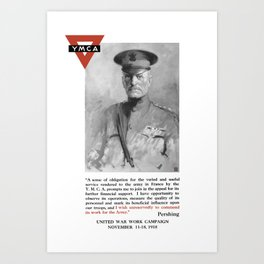 General Pershing -- United War Works Campaign Art Print