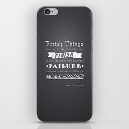 Finish Things - Neil Gaiman iPhone Skin