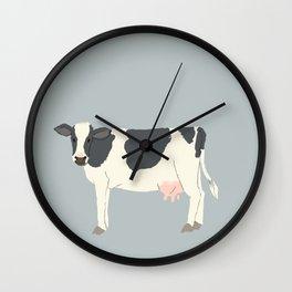 Cute Black White Cow Wall Clock