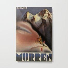 Muerren Vintage Travel Poster Metal Print