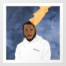 Kendrick Lamar, Blue Art Print