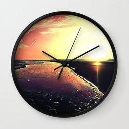 Kiawah Island Sunset Wall Clock