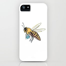 Bee with Purse iPhone Case