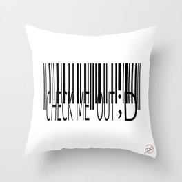 Barcode-Check Me Out ;D Throw Pillow