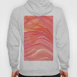 Abstract Pink Orange Purple Stripes Painting Girl Summer Colorful Hoody