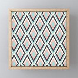 Pastel Colours Geometric Pattern Framed Mini Art Print