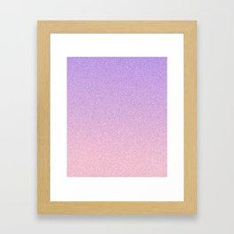 Lavender and Blush Static Ombre Framed Art Print