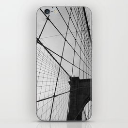 Brooklyn Bridge Black and White iPhone Skin