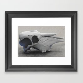 Charcoal Skull Framed Art Print