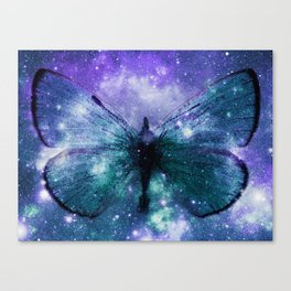 Celestial Butterfly Violet Turquoise Teal Canvas Print