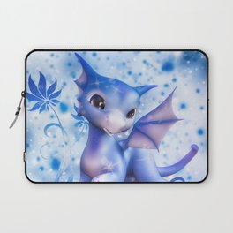 Cuddle me Dragon in blue Laptop Sleeve