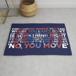 Civil War Quote Rug