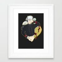 dmmd Framed Art Prints featuring Dive into DMMd Clear by Collette Ren